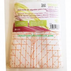 Entretela de algodón para log cabin y piña tradicional patchwork en lamargaridacreativa 2