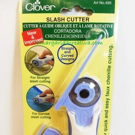 Cutter patchwork cortador con guía de rectas y oblicuos Clover en lamargaridacreativa