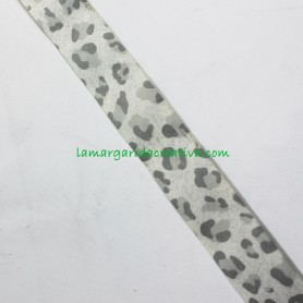 Bies 30mm Leopardo gris mota grande animal print en lamargaridacreativa 1