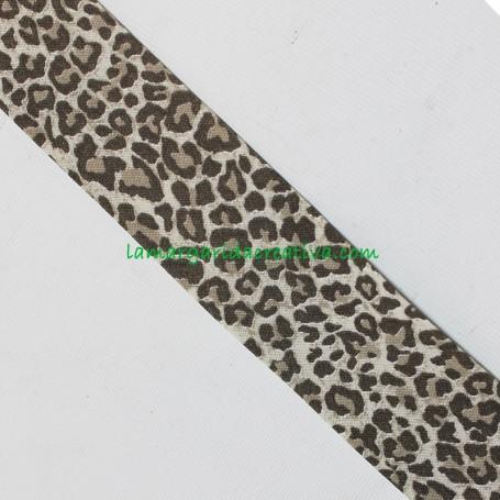 Bies 30mm Leopardo marron animal animal print en lamargaridacreativa 1