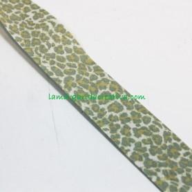 Bies 30mm Leopardo verde animal print en lamargaridacreativa 1