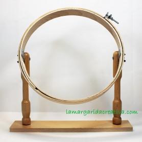 Bastidor madera con pie 25cm artesanal fabricado en españa en lamargaridacreativa