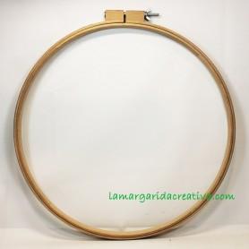 Bastidor madera patchwork y bordar 45cm artesanal fabricado en españa en lamargaridacreativa 3