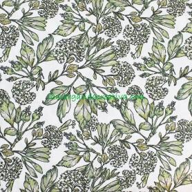 Tela patchwork trasera floral silvestre verde en lamargaridacreativa 2