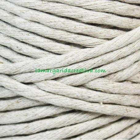 Hilo cordón cuerda macramé color natural fibras recicladas en lamargaridacreativa 2