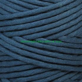 Hilo cordón cuerda macramé azul fibras recicladas en lamargaridacreativa