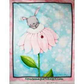 Panel patchwork Bunny Love Conejo