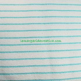 Tela toalla stripes Aqua katiafabrics  en lamargaridacreativa 4