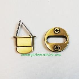 Cierre bolso fornitura oro viejo en lamargaridacreativa