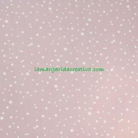 Tela popelín estrellitas fondo rosa palo doris en lamargaridacreativa 4