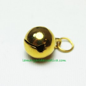 Cascabel Metálico Oro 11mm