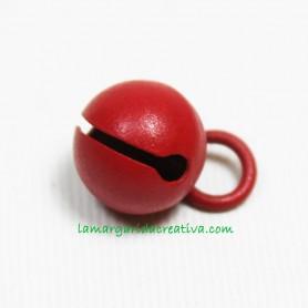 Cascabel Metálico Rojo 11mm