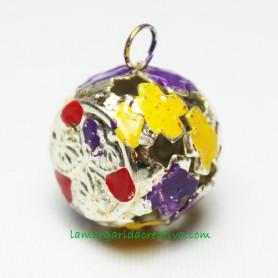 Cascabel metálico multicolor 21mm I