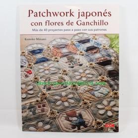 Libro Patchwork Japonés con flores de Ganchillo