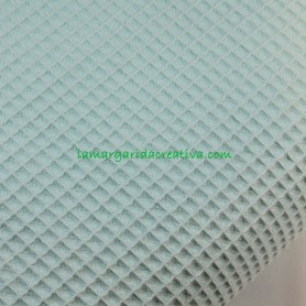 Tela waffle nido abeja verde mint en la margaridacreativa 3