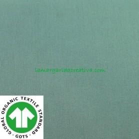 Tela Algodón Orgánico Verde
