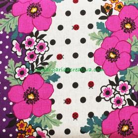 Loneta Japonesa Lino Fantasía Flores