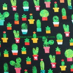 Tela Patchwork Cactus Chili Smiles lamargaridacreativa