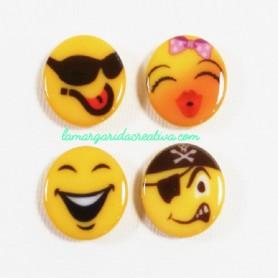 Botones decorativos emoticonos emojis la margarida creativa
