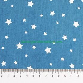 Tela Patchwork Estrellas Fondo azul en la margarida creativa