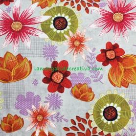 Tela Patchwork Flores Wild Wonder