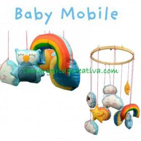 Panel tela infantil móvil bebé la margarida creativa