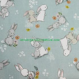 Tela Algodón Conejos Trend Cute