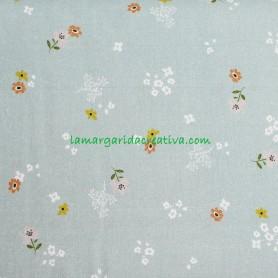 Tela Algodón Estampada Flores Trend Cute