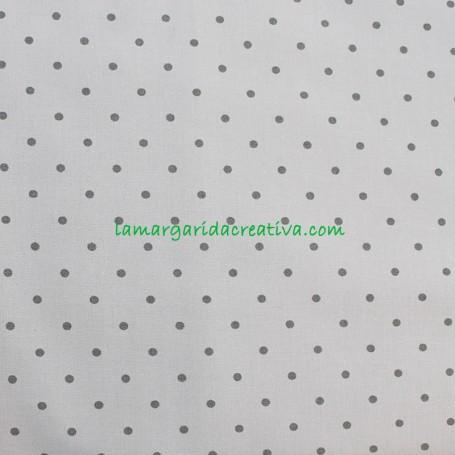 Tela Popelín Topo Gris Doris Petit de Algodón patchwork y costura lamargaridacreativa 1