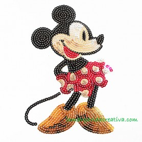Aplicación termoadhesiva Minnie Mouse Lentejuelas 1