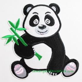 Aplicación termoadhesiva Oso Panda Parche lamargaridacreativa 1