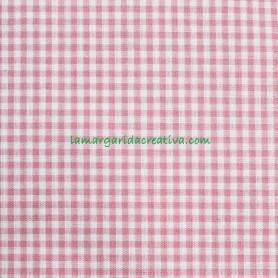 Tela Vichy Rojo Cuadros Algodón confección patchwork y costura lamargaridacreativa