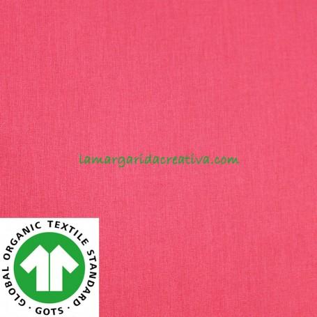Tela Magenta Liso Algodón Orgánico Patchwork y Costura confeccion lamargaridacreativa