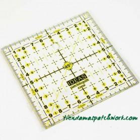 Regla patchwork Cuadrada 10x10 centímetros 1