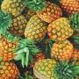 Tela Algodón Piñas Patchwork y costura estampado frutas cocina lamargaridacreativa