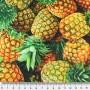 Tela Algodón Piñas Patchwork y costura estampado frutas cocina lamargaridacreativa 1