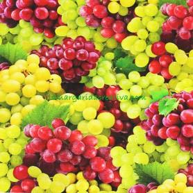 Tela Algodón Uvas Patchwork y costura estampado frutas cocina lamargaridacreativa