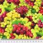 Tela Algodón Uvas Patchwork y costura estampado frutas cocina lamargaridacreativa 1