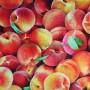 Tela Algodón Melocotones Patchwork y costura estampado frutas cocina lamargaridacreativa