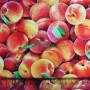 Tela Algodón Melocotones Patchwork y costura estampado frutas cocina lamargaridacreativa 1