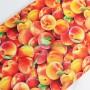 Tela Algodón Melocotones Patchwork y costura estampado frutas cocina lamargaridacreativa 3