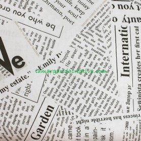 Tela Algodón Trasera Periódico 2.70m ancho lamargaridacreativa