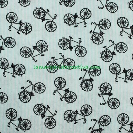 Tela Bicicletas Happiest Little Camper Patchwork y costura en tienda merceria La Margarida Creativa