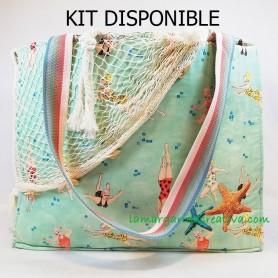 Kit bolso verano  playa  piscina playero la margarida creativa