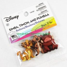 Botones decorativos Disney Simba Timon y Pumbaa en tienda online mercería la margarida creativa 2
