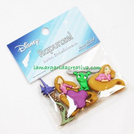 Botones decorativos Disney Rapunzel en tienda online mercería la margarida creativa 2