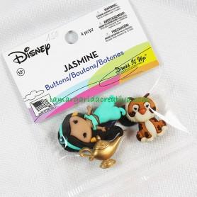 Botones decorativos Disney Jasmine Aladín en tienda online mercería la margarida creativa 2