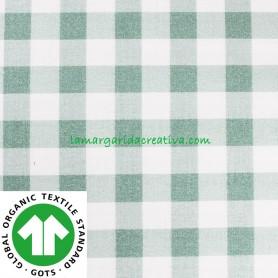Tela Vichy Verde Empolvado Cuadros Algodón Cuadro Grande confección patchwork y costura lamargaridacreativa 1