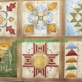Tela patchwork cuatro estaciones elementary cuadros en tienda online merceria la margarida creativa 1