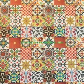 Tela patchwork Mosaico Suelo Estilo Oriental en lamargaridacreativa 1
